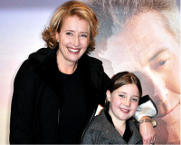 Emma Thompson with nine year old Gaia