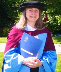 Dr. Harris after the doctoral awards ceremony at the University of Southampaton, July 2007